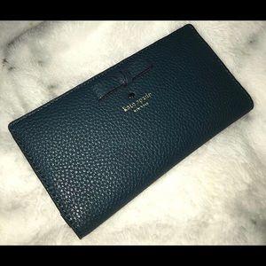Kate spade blue-ish green wallet brand new